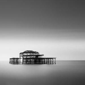 Ruins of Brighton Pier - England